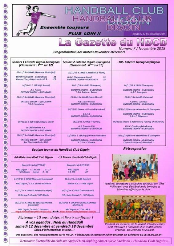 Gazette du HBCD - Numéro 7 ! (Novembre 2015)