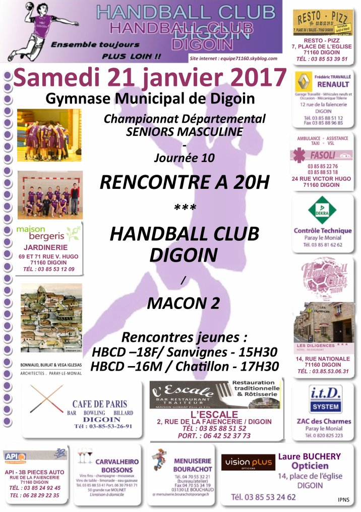 Rencontres du week-end handballistique