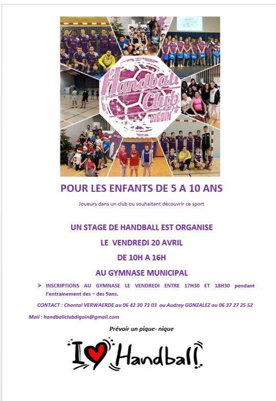 Stage HANDBALL pour les 5-10 ans