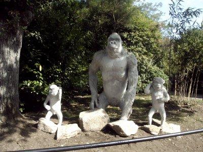 les gorilles en pierre