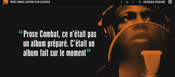 DOCUMENT EXCEPTIONNEL : Le Mouv' pour l'émission « La collection Rap » spéciale Mc Solaar