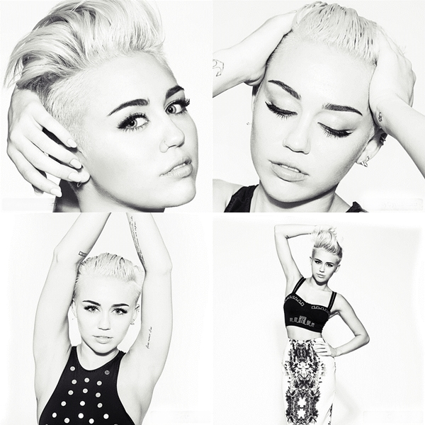 Shoot •  Voici le shoot réalisé par son nouveau photographe. Ces photos sont destinées à son nouveau site actuellement ouvert. MileyCyrus.com.