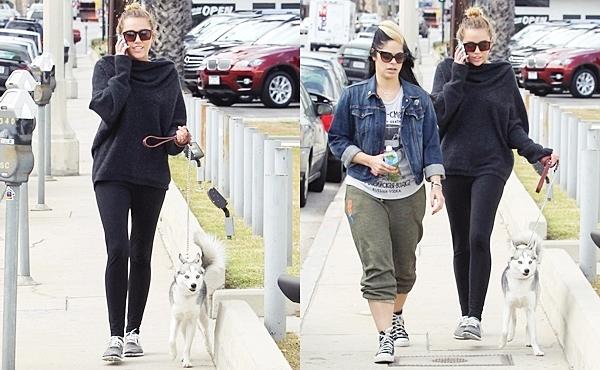 7 Mars 2012 •   Miley sortant de son cours de Pilates.