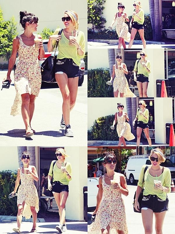 Le 25 Juin 2012 • Miley a été vu quittant son cours de pilate. Puis elle est allée chercher un café avec Jean Novak et s'est rendu à un salon de coiffure.J'aime beaucoup sa tenue !