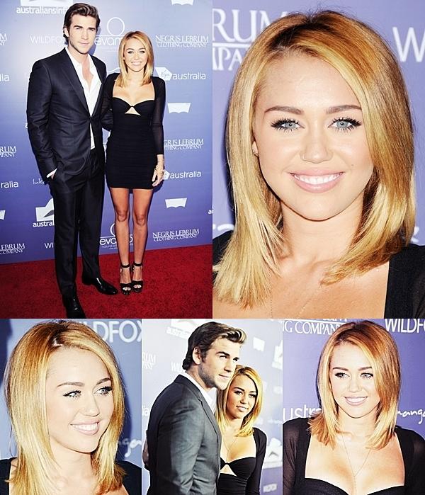 Le 27 Juin 2012 • Miley et Liam étaient présent au « Australians In Film Awards And Benefit Dinner » dans Century City. Le couple a posé pour les photographes sur le tapis rouge et à l'intérieur de la cérémonie.