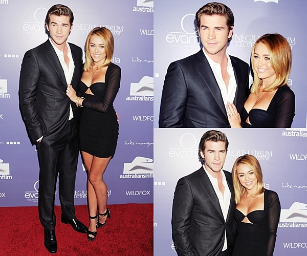 Le 27 Juin 2012 • Miley et Liam étaient présent au « Australians In Film Awards And Benefit Dinner » dans Century City. Le couple a posé pour les photographes sur le tapis rouge et à l'intérieur de la cérémonie.
