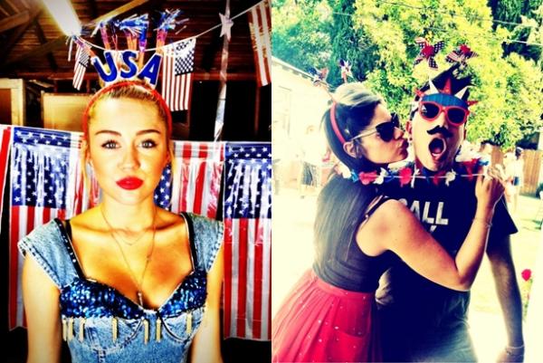 Le 4 Juillet 2012 •  Miley a fêté le 4 juillet avec ses amis et sa famille. Des photos provenant de son twitter sont apparus. J'ai mis aussi deux nouvelles photos de l'anniversaire de Liam.