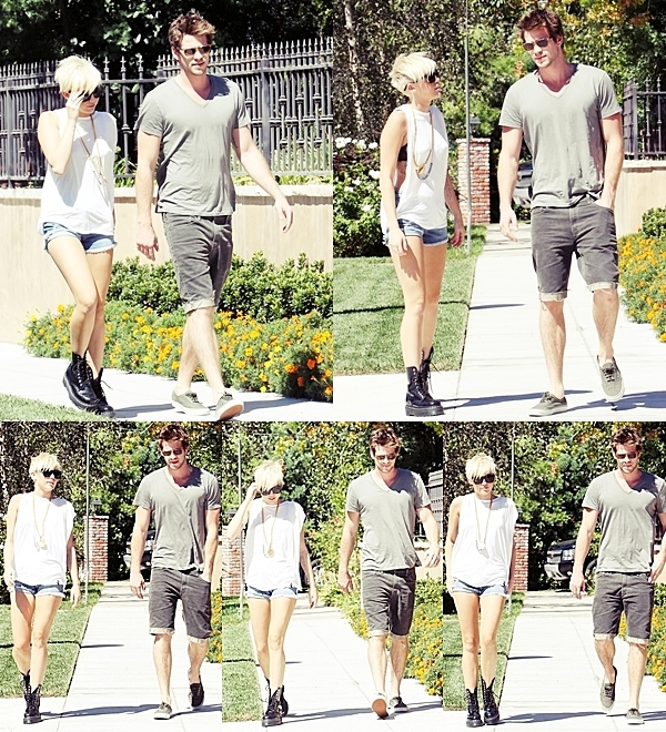 Le 2 Septembre 2012 •  Miley et Liam sont allés rendre visite à l'un de leur amis.