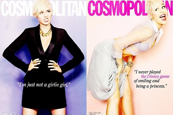 Le 26 Janvier 2013 • Miley fait la couverture du magazine Cosmopolitain de Mars 2013. Un shoot a été réalisé pour l'occasion. D'autres photos sont attendus :) Miley est vraiment ravissante !