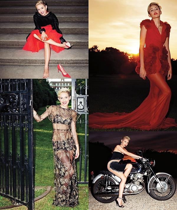 Le 8 Août 2013  Miley a été photiographiée par Terry Richardson pour le magazine Harper's Bazaar. Il sortira en septembre ! Elle porte une robe Armani Prive Giorgio, des accessoires Dior, une robe Chanel, une robe Valentino  et des bijoux Chopard. Ce shoot est vraiment magnifique ! L'un des plus beaux auquel Miley a participé!