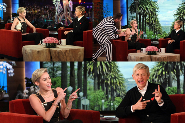 Le 10 Octobre 2013 Miley a été invitée sur le plateau d'Ellen Degeneres où elle y a interprété entre autre Wrecking Ball.