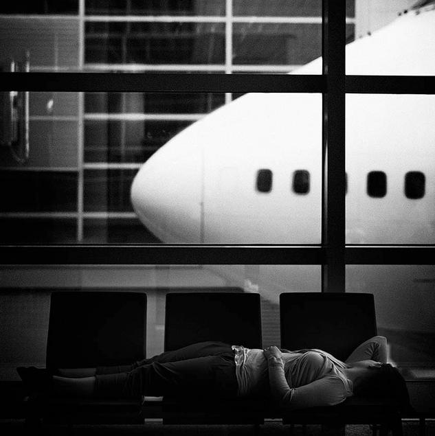 Un avion s'est posé