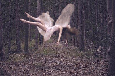 Virage d'anges heureux