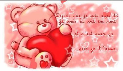 je taime mon amour de ma vie!!