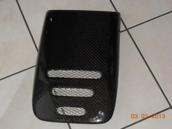 Prise d'air de toit  tuning carbone