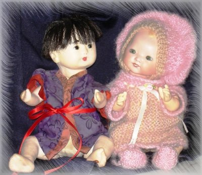 "Bébés Poupées en Gofun ""Ichimatsu"""