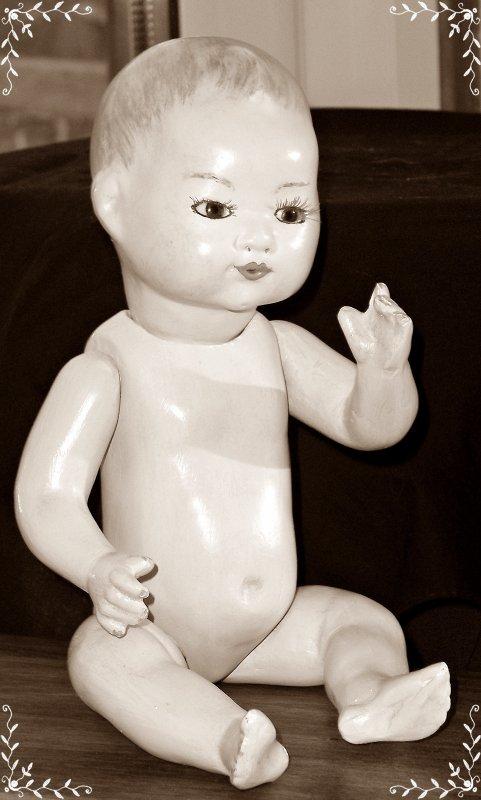 Bambino petit frère de Bleuette dans sa nudité !