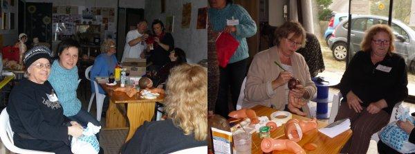 Premier jour de la réunion Passionnés des Poupées le 20 avril 2012 Ardèche
