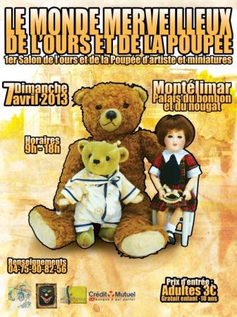 1 er Salon de l' Ours et de la Poupée dimanche 7 avril 2013 à  Montelimar 26