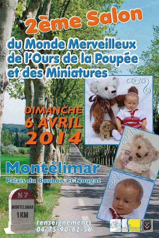 Salon  Monde de l'Ours et de la Poupée dimanche 6 avril  Montelimar 26