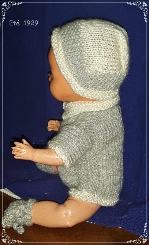Layette tricot pour Bambino Petit Frère de Bleuette (suite)