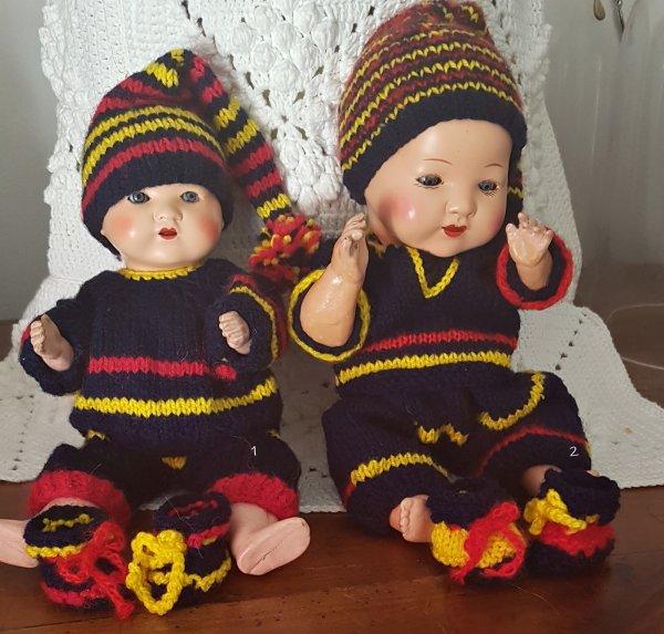 Bambino Frère de Bleuette tenues au tricot