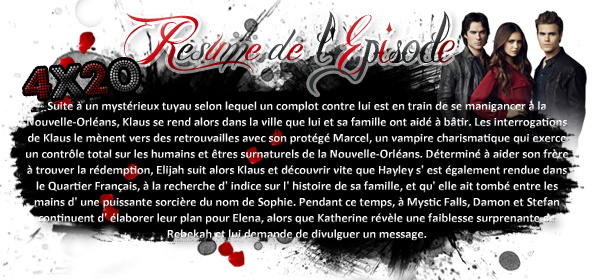 ♦ TheVampireDiaries-Mania.skyblog.com, Blog Source sur la série The Vampire Diaries  __Article : Saison 4 - Episode 20_________________________________________Newsletter_ | _Création_ | _Décoration__