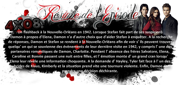 ♦ TheVampireDiaries-Mania.skyblog.com, Blog Source sur la série The Vampire Diaries  __Article : Saison 4 - Episode 08 : We'll Always Have Bourbon Street_-___________Newsletter_ | _Création_ | _Décoration__