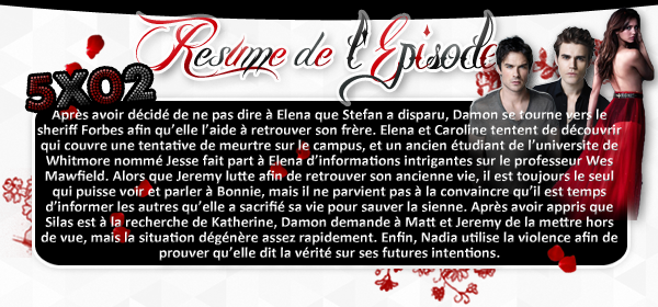 ♦ TheVampireDiaries-Mania.skyblog.com, Blog Source sur la série The Vampire Diaries  __Article : Saison 5 - Episode 02_________________________________________Newsletter_ | _Création_ | _Décoration__