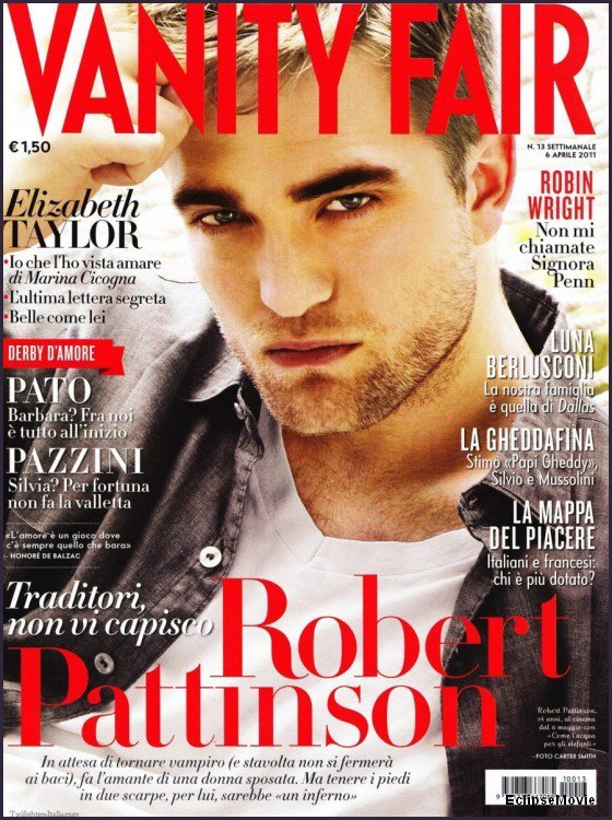 Robert Pattinson en couverture du magazine Vanity Fair (Italie)