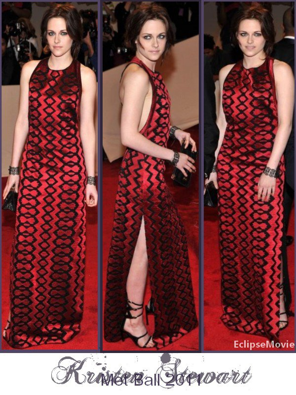 Kristen Stewart au Met Bal 2011 le Lundi 2 Mai.