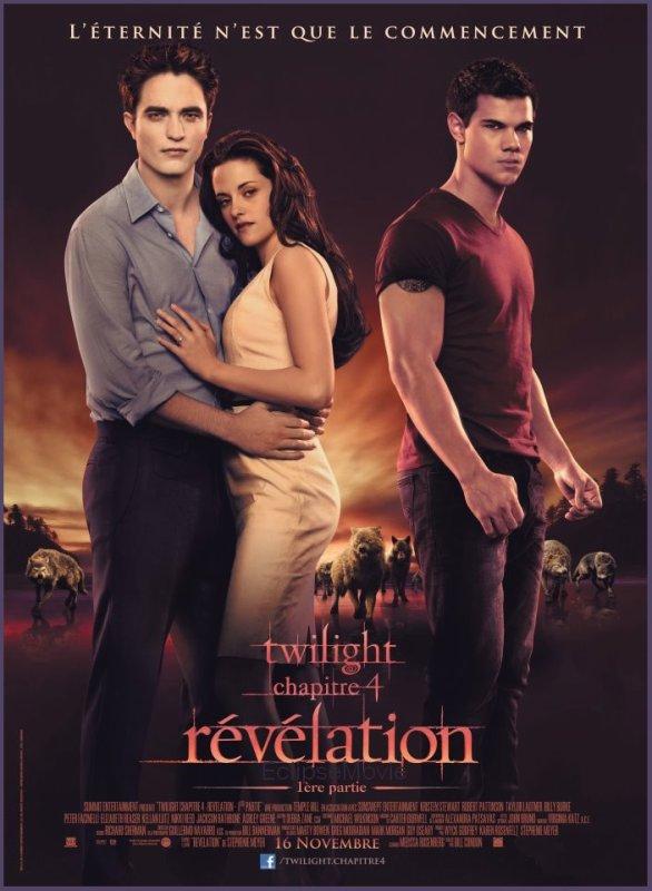 Affiche définitive de la 1ère partie du quatrième volet de la saga « Révélation ».