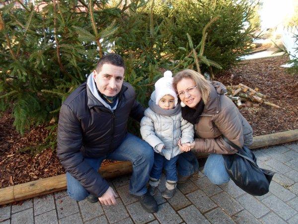 Marché de Noël - Tourcoing (avec Noëmie, sa Maman et sa Petite Soeur Sirine)