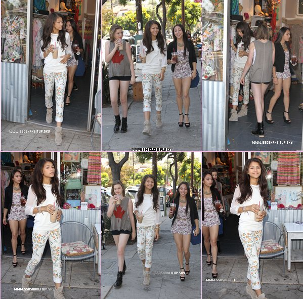 "14/10/12 Zendaya se promenait avec ses Amies , dans les ruse de Los Angeles . (+)15/10/12 Bella et Kaly au Nylon Magazine , Hello Kitty et Forever 21 (+) 13/10/12 Zella ♥ A la ""Radio Disney Kicks Off Season Five Next Big Thing "" ."