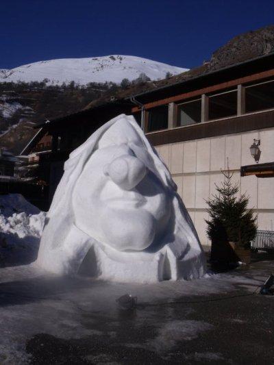 scultures de neige a valloire