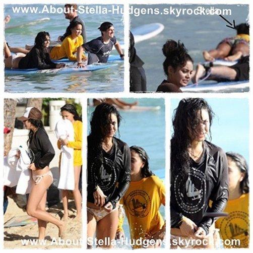 _  Après avoir était vue à la plage et à son hôtel, Stella entrain de surfer sur la plage de Waikiki avec Vanessa et leur mère ! _