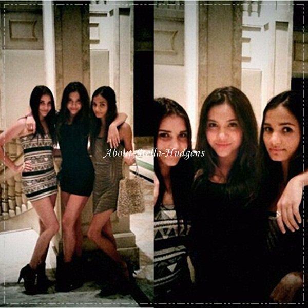 .Stella, Pia & sa petite soeur, toujours en vacance à Guam, pendant une soirée. Je trouve que la tenue de Stella est un top. :).