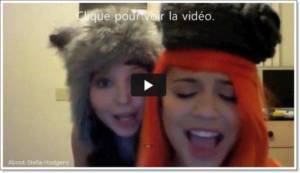 . Franchement, je vous conseille de regarder cette vidéo de Stella & Sammi chantant, dansant sur Who Says... Je vous jure, elles finiront par nous tués de rire.