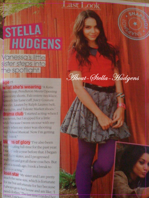 . Le fameux article où je vous parlez de Teen Vogue était vrai! Stella à posé pour eux et à eu une interview. Elle vient de le posté sur son twitter..