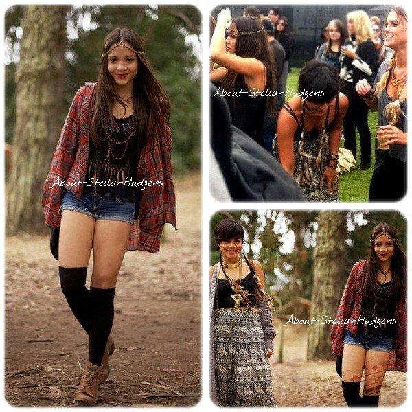 """Stella était avec sa grande soeur et Laura au festival """"Outside Lands""""."""