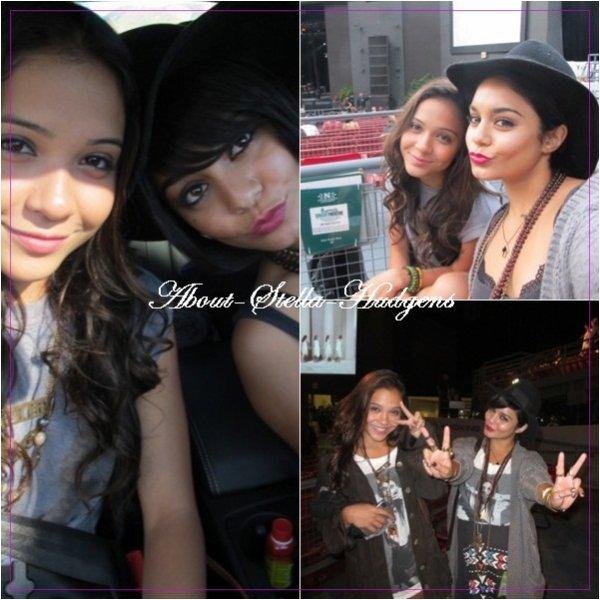 . Vanessa à postée des photos d'elle & sa petite soeur sur son site officiel. L'une date de leur journée shopping, l'autre lors de leur concert de Lykke Li.