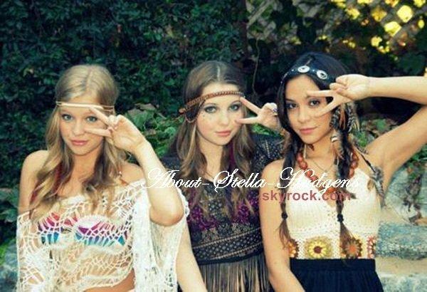 . Stella, Sammi & Cassidy en mode hippie..