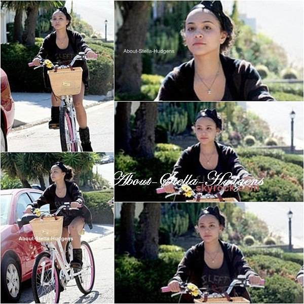 . Stella & Sammi se sont fait photographiées le 8 par des paparazzis alors qu'elles faisait du vélo dans Studio City ! Le début de la célébrité mes petits, le début de la célébrité !!