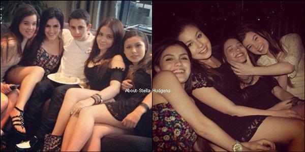 . Souvenez vous de l'article d'en dessous Stella, Telana, Alexa et Hailey à un endroit inconnu. Eh bien nous savez maintenant qu'elles étaient à l'anniversaire de Moises Arias et voilà d'autres photos de la soirée avec Moises et une fan.