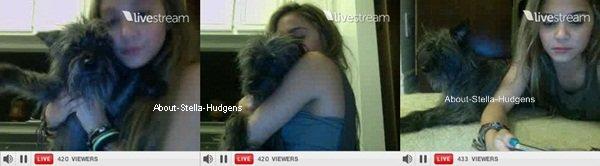 """Stella Hudgens: La confirmation de son couple avec Jaden.  .  Stella à aujourd'hui, vers 12h jusqu'à 13h, fait une twitcam avec Jordyn. Il était 3h chez elles quand elles ont commencé. Elle à montré, surement suite à la demande des gens, son fond d'écran de portable et la photo n'était juste que Stella et Jaden s'embrassant. Elle à sort un petit """"ANNNNNHHHHH"""" et à essayé de se rattraper en jouant à la menteuse et à dit que c'était des acteurs de TVD. Malheureusement, aucunes photos disponibles du fond d'écran car elle à était trop vite... On peut dire qu'ils sont officiellement ensemble maintenant..  Steden? Jalla? Steja? Mouais mouais...  Merci à @Marinoeud pour l'info."""