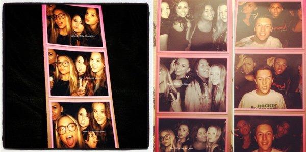 . Stella posant devant les photographes avec Caitlin & Christian lors de l'anniversaire surprise de son amie. ♥