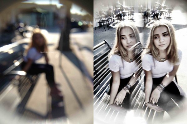 . Stella & Willow qui s'improvisent encore une fois un mini shoot. On ne voit pas Willow sur les photos.