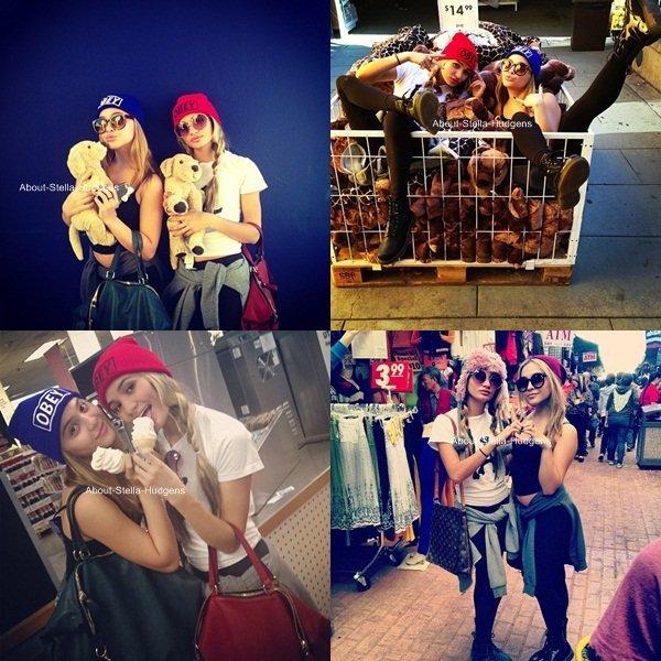 . Avant hier, Stella était une nouvelle fois avec Pia. Elles étaient dans un marché, ont achetaient pour les peluches & ont mangaient une glace.