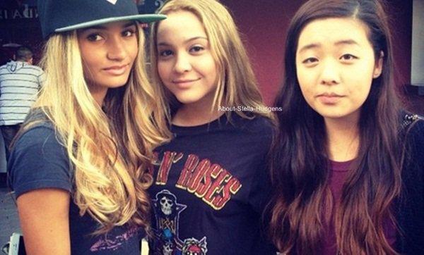 . De retour à Los Angeles, Stella à passé sa soirée d'avant hier avec Shamari & Pia.