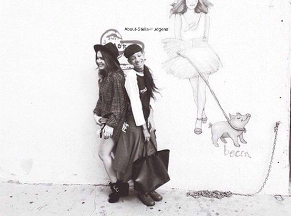 . La sorcière et l'ange à la fête d'Halloween avec une amie le 25 octobre.
